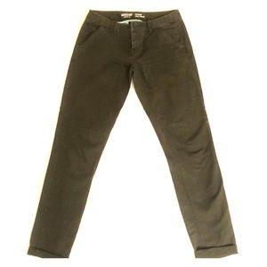 Olive green skinny pants
